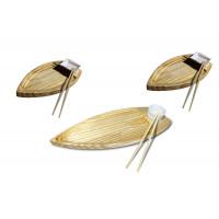 2 Kits - 1 Barca Grande e 2 Barcas de sushi pequenas com molheiras