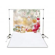 Suporte para Fundo Fotográfico Presentes de Natal 1,4m x 2,2m