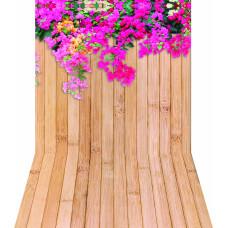 Fundo Fotográfico Parede Com Flores 1,4x2,2m