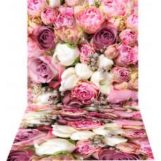 Fundo Fotográfico Cenário Flores Rosas 1,4x2,2m