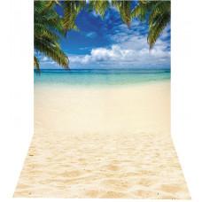 Fundo Fotográfico Cenário Praia Paradisiaca 1,4x2,2m
