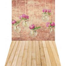Fundo Fotográfico Flores no Copo 1,4x2,2m