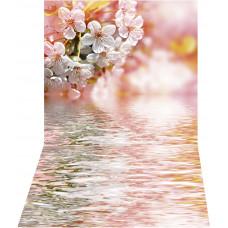 Fundo Fotográfico Flores E Lago 1,4x2,2m
