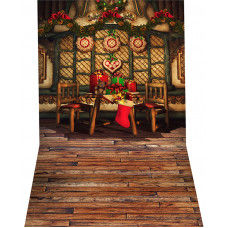 Fundo Fotográfico Mesa de Natal De 1,4x2,2m