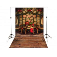 Suporte para Fundo Fotográfico Cenário Árvore de Natal 1,4m x 2,2m
