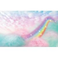 Fundo Fotográfico Newborn Nuvens Arco Iris - 2,2x1,4m