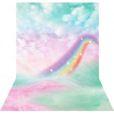 Fundo Fotográfico Newborn Nuvens Arco Iris - 1.4x2.2m