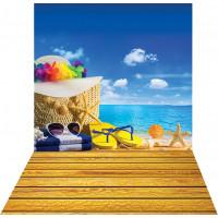 Fundo Fotográfico Cenário Praia - 1,4m X 2,2m