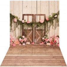 Fundo Fotográfico Newborn Porta e Flores 1,40m x 2,20m