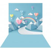 Fundo Fotográfico Newborn Montanhas e Balões 1,40m x 2,20m