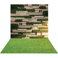 Fundo Fotográfico Cenário Jardim Vertical 1,4m x 2,2 m