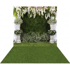 Fundo Fotográfico Newborn Cenário Flores 1,4m x 2,2 m