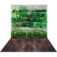 Fundo Fotográfico Cenário Jardim Vertical com Flores 1,4m x 2,2 m
