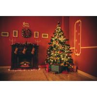 Painel De Parede Decoração Cenário Árvore Natal 1,80m x 1,40m