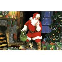 Painel De Parede Decoração De Natal Papai Noel 2,00m x 1,40m