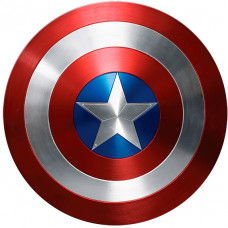 Capa Capitão América Escudo de 1,30m