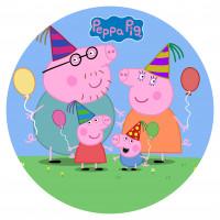 Capa Peppa Família Pig Aniversário de 1,30m