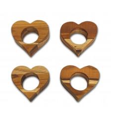 Kit Com 4 Porta Guardanapos Em Formato Coração