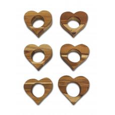 Kit Com 6 Porta Guardanapos Em Formato Coração