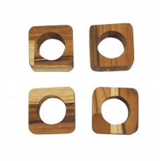 Kit Com 4 Porta Guardanapos Em Formato Quadrado