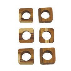 Kit Com 6 Porta Guardanapos Em Formato Quadrado