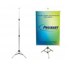 Porta Banner 2,50m Pedestal Tripé Suporte Alumínio