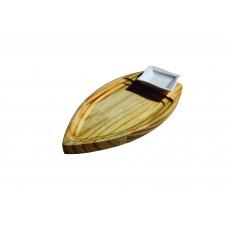 Barca De Sushi Sashimi Madeira P/ Alimentos Molheira E Hashi